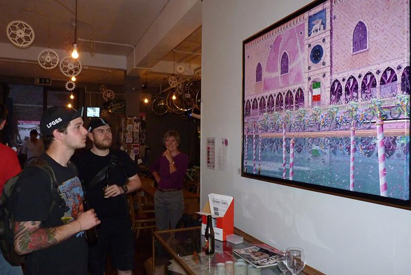 "Jeff Parr Velo-Art Exhibition ""Ultimo Giro"""