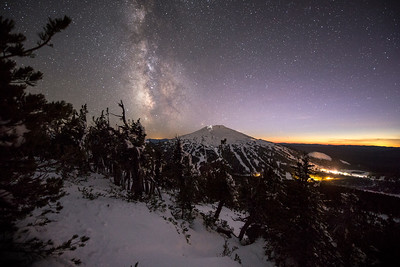 The Milky Way over Mount Bachelor