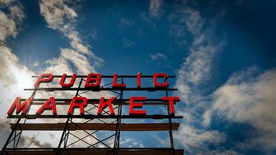 Neon Market Sign