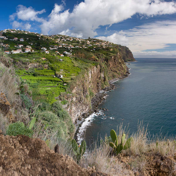 Coastline near Ribeira Brava village