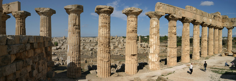 Archaeological site Selinunte with its Greek temple