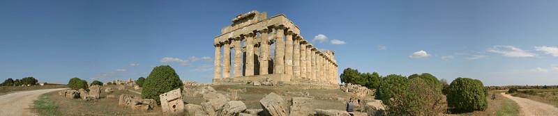 Temple ruins in Selinunte