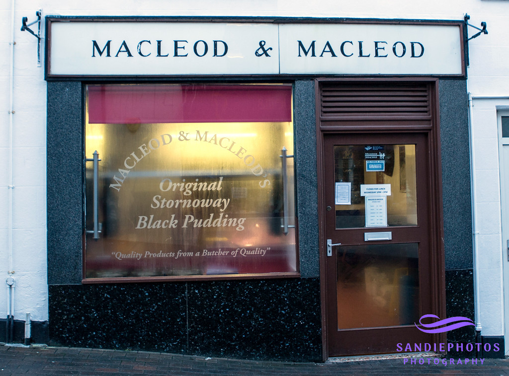 """Macleod & Macleod Butchers<br /> Church Street and Westview Terrace, Stornoway<br /> <a href=""""http://www.macleodandmacleod.co.uk/"""">http://www.macleodandmacleod.co.uk/</a>"""