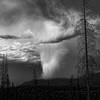 """Storm in the Rockys - Juried into the """"It's all here in Black and White"""" show. March 2011"""
