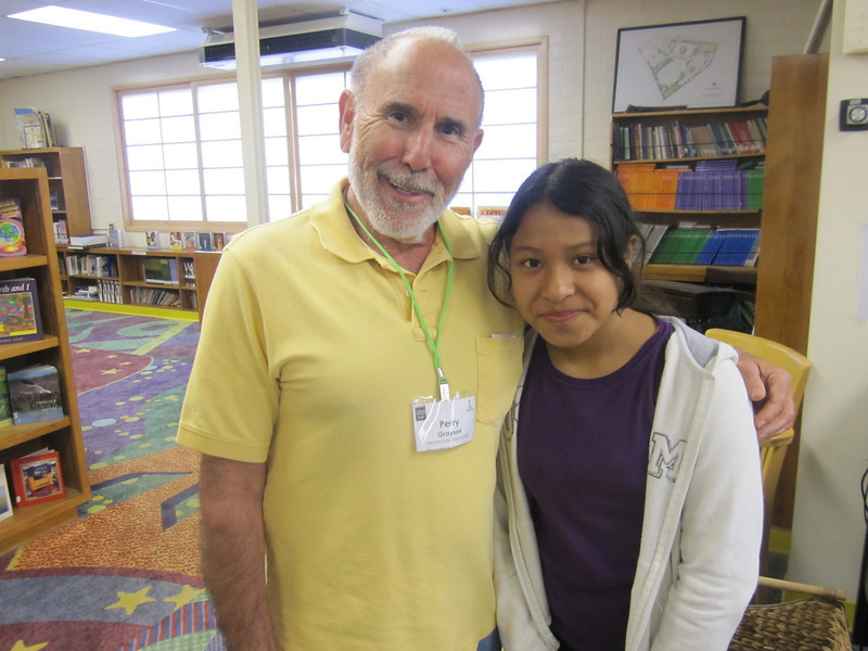 KOREH L.A. volunteer Perry G. and Jessica M. continued into the fourth grade. She soon developed a love for Judy Blume books.