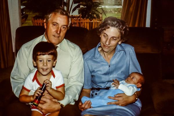 Dad, Mum, Dave & Pete, Holland 1982