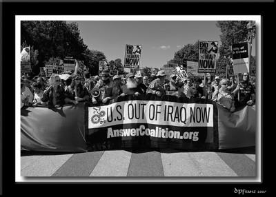 ANSWER War Protest, September 15, 2007, Washington, DC