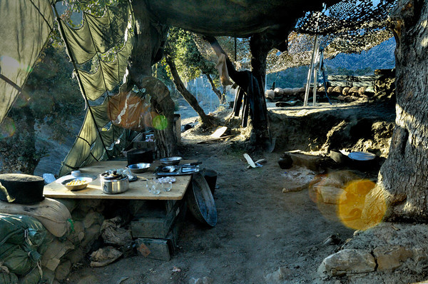 An Afghan National Army living quarters