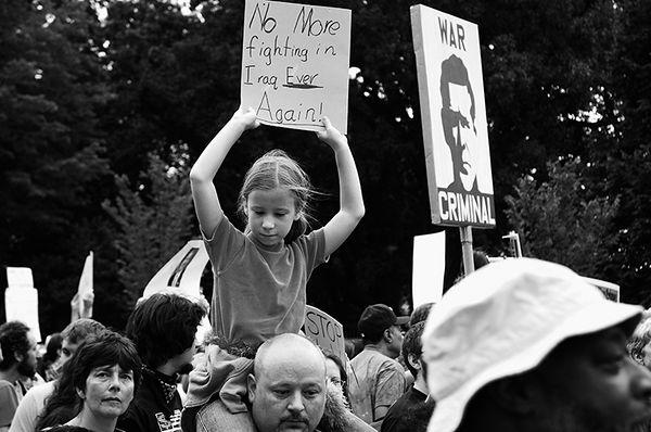 Washington, DC, September 24, 2005 - Cindy Sheehan, Jesse Jackson and Anti-War Protest March