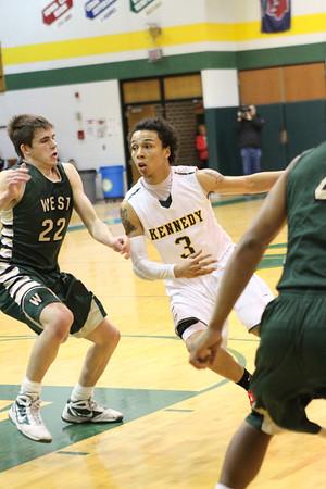 IC West vs. Kennedy Boys' Basketball 1/28/14