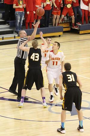 Regional Quarterfinal Boys' Basketball Marion vs.Center Point-Urbana 2/24/14