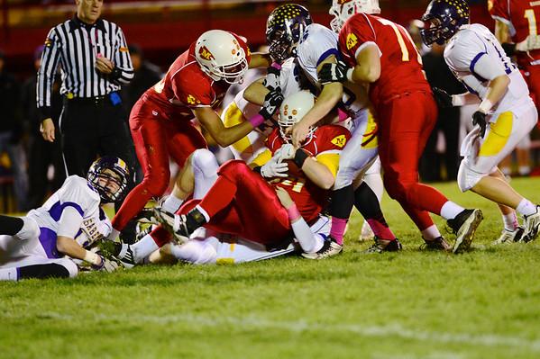 Marion vs. Central Clinton, DeWitt Football 10/25/13
