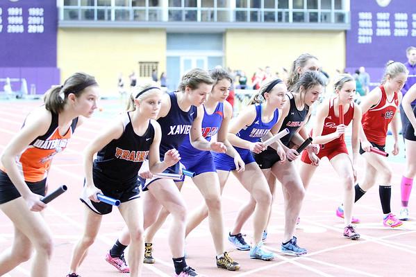 Linn-Mar at MVC Girls' Track Meet 3/18/14