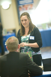Career Services Job Fair in Scanlon Banquet Hall at Westfield State University