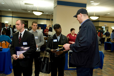 The Criminal Justice Career Fair at the Scanlon Banquet Hall at Westfield State University