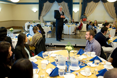 The 2013 Dining Etiquette Dinner, sponsored by the Career Center, at Westfield State University