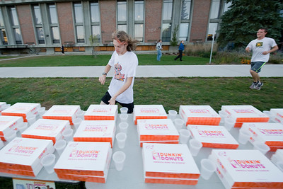 The first annual Dunkin Donuts Dash on the campus green
