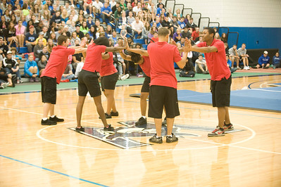 Fall sports Pep Rally at the Woodward Center 9/2011