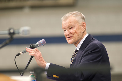 Guest Lecturer Zbigniew Brzezinski speaks at the Woodward Center