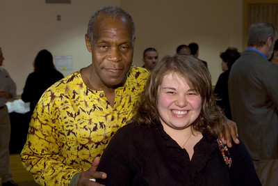Actor Danny Glover speaks at Westfield State College