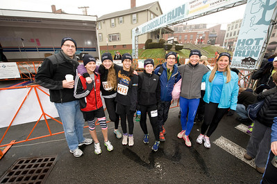 Members of the Westfield State University community attend the Hot Chocolate Run, a benefit for Safe Passage, in Northampton, MA