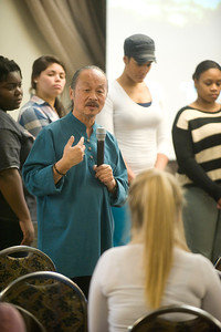 African-American nurses speak to Westfield State University nursing student about their experiences in their profession.