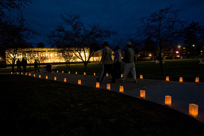 Light The Night, an event honoring those who have inspired members of the Westfield State University community