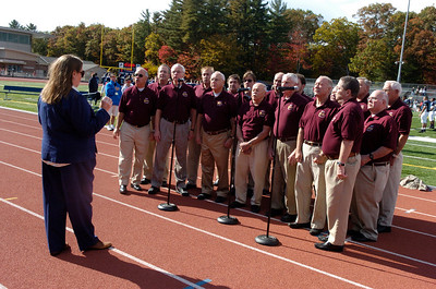 The Pioneer Vally Chordsmen sing the National Anthem at Homecoming 2008
