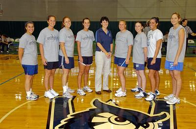 Alumni women's basketball at Homecoming 2007