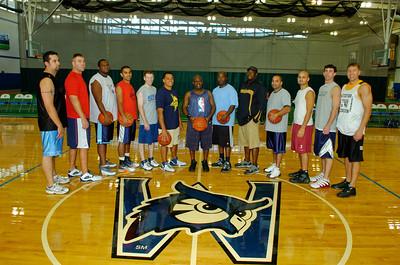 Alumni men's basketball at Homecoming 2007