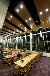 Interior of the newly renovated Dining Commons on the campus of Westfield State University. 9/27/2011