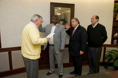New trustees, Steven P Marcus and Terrell Hill are sworn in at Westfield State University