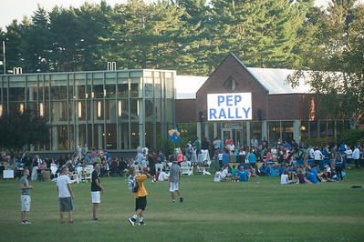 Welcome back BBQ and Pep Rally on the campus green at Westfield State University