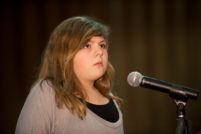 Circle K Spelling Bee in the Sauvigano Auditorium at Westfield State University  Brooke Frisbie, Highland Elementary