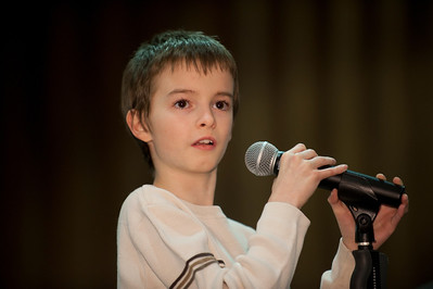 Circle K Spelling Bee in the Sauvigano Auditorium at Westfield State University   Caleb Hazzard, Munger Hill Elementary