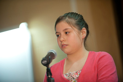 Circle K Spelling Bee in the Sauvigano Auditorium at Westfield State University   Alanna Barzola, Paper Mill Elementary