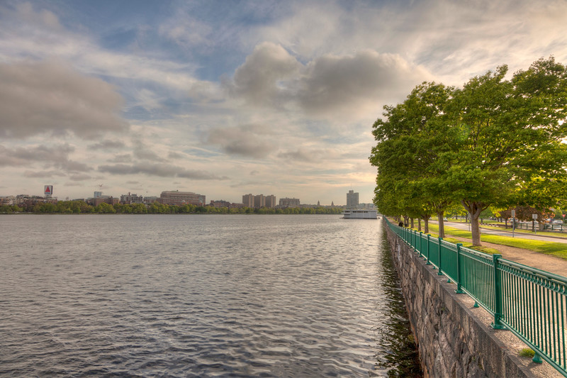 Massachusetts Ave. (Harvard Bridge) at Memorial Drive, Boston