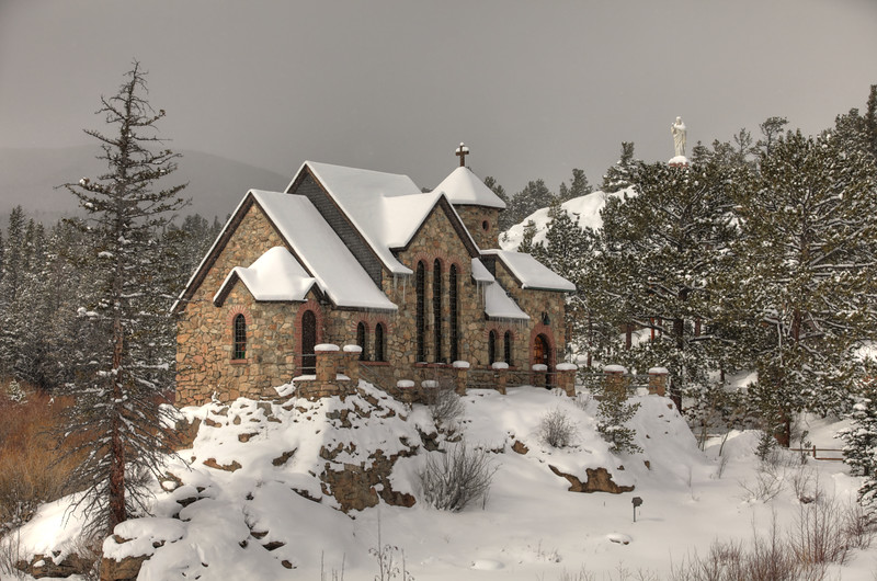 Chuch just outside Rocky Mountain National Park, CO