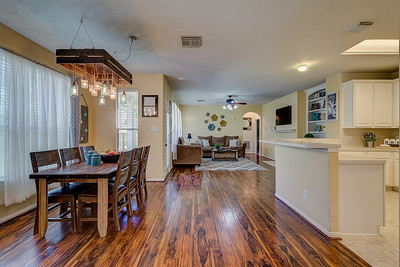 Kitchen, Living, & Dining