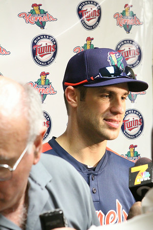 Pre-Game Photos-Joe Mauer-Batting Practice-Autographs-Press Conference-Joe and brother 8-4-14