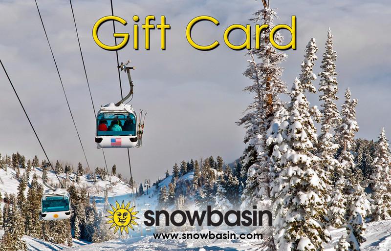 Snowbasin Gift Card Gondola clouds