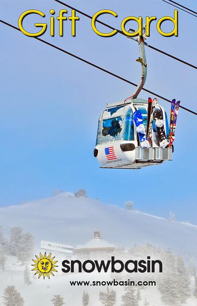 Snowbasin Gift Card Vertical Gondola with JP