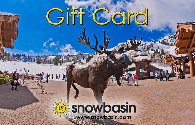 Snowbasin Gift Card Moose