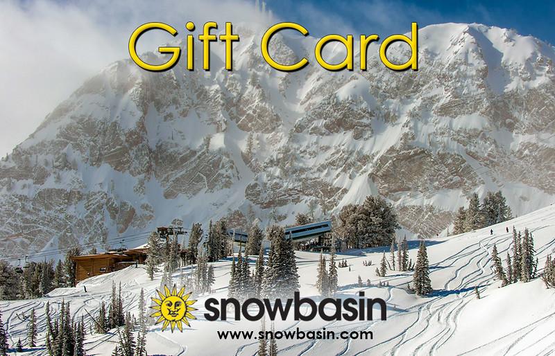 Snowbasin Gift Card Powder day JP