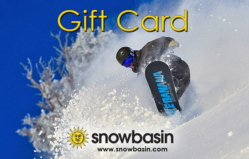 Snowbasin Gift Card Snowboarder