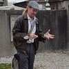 Charles Duffy with Haunted History Tours guiding a group through St. Louis Cemetery No 1, oldest burial ground in New Orleans.  If you are ever in the Big Easy and want a tour, I highly recommend getting him as a guide.