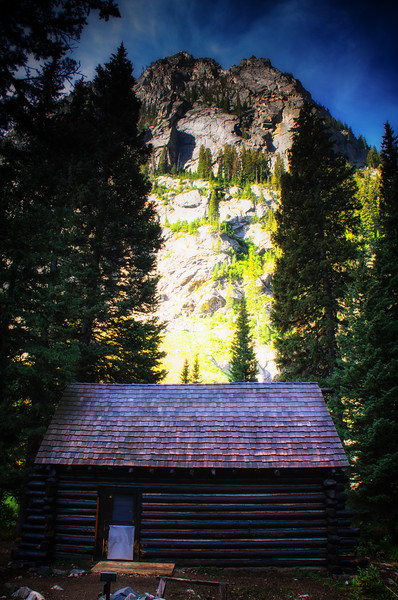 An old ranger's cabin, in Death Canyon at Grand Teton National Park
