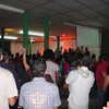 A view from the back of Verbo church in Managua during a lively service on Sunday morning.