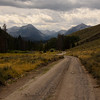 Road to the Sawtooths.