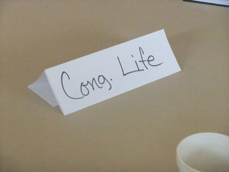 Congregational Life was broad enough to have its own table.
